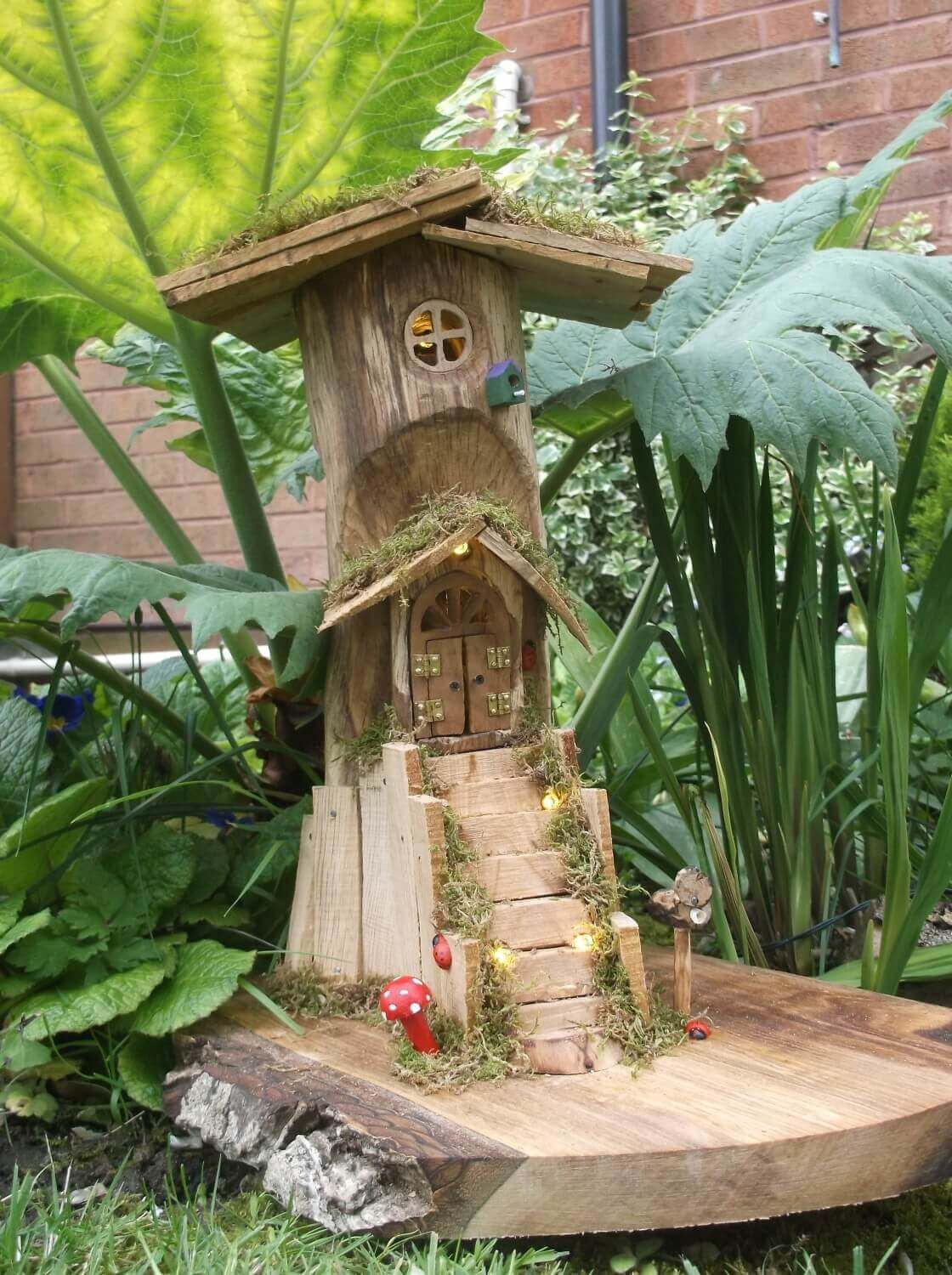 Magical fairy treehouse – Timber Wonderland – wooden fairy houses ...