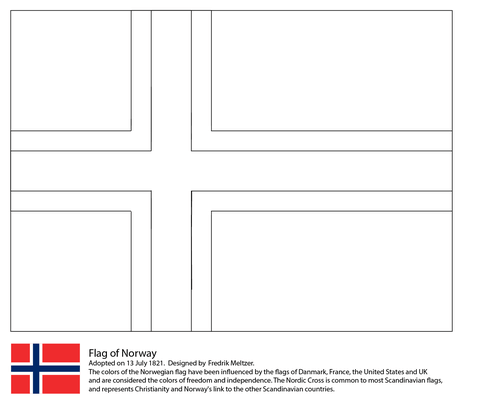 Flag Of Norway Coloring Page Fargelegging Aktiviteter Handverk