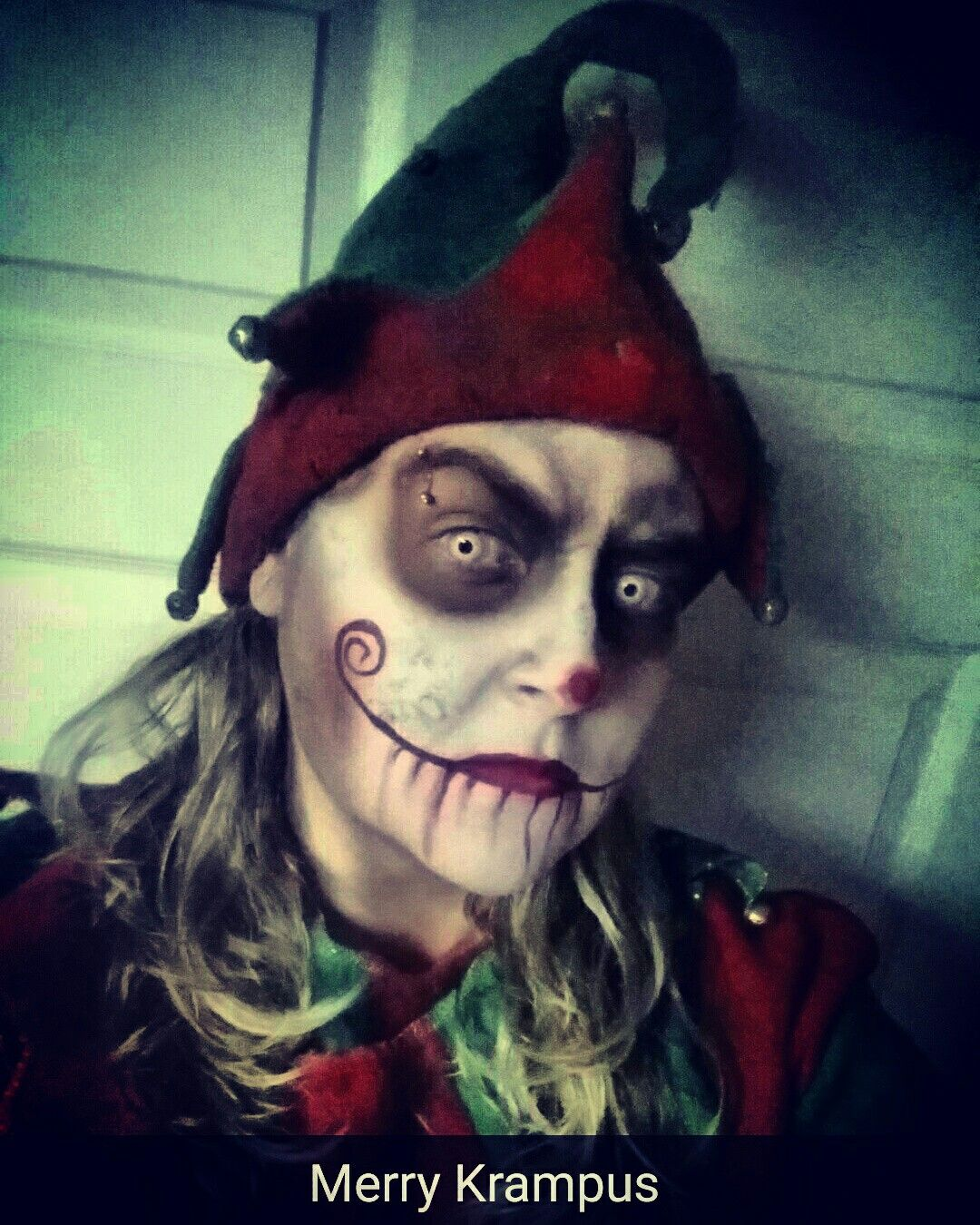 Christmas Halloween Makeup.Evil Elf Krampus Little Helper Monster Makeup Halloween