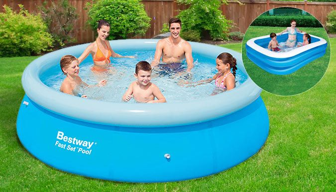 Buy Large Inflatable Swimming Pools - 6ft or 8ft UK deal for just ...