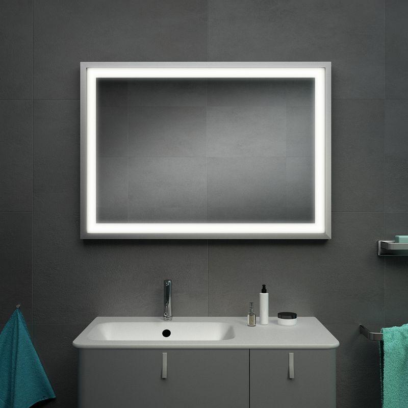 Rahmenspiegel Bad Kaufen Schwarz Silber Kiel Spiegel Rahmen Spiegel Badspiegel Led
