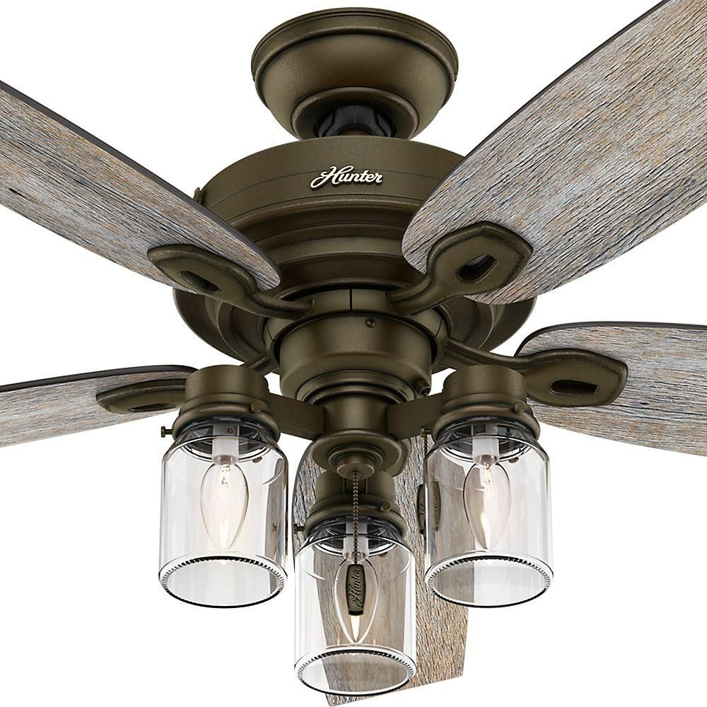 2caa68c2bd2 Hunter Crown Canyon 52 in. Indoor Regal Bronze Ceiling Fan-53331 - The Home  Depot