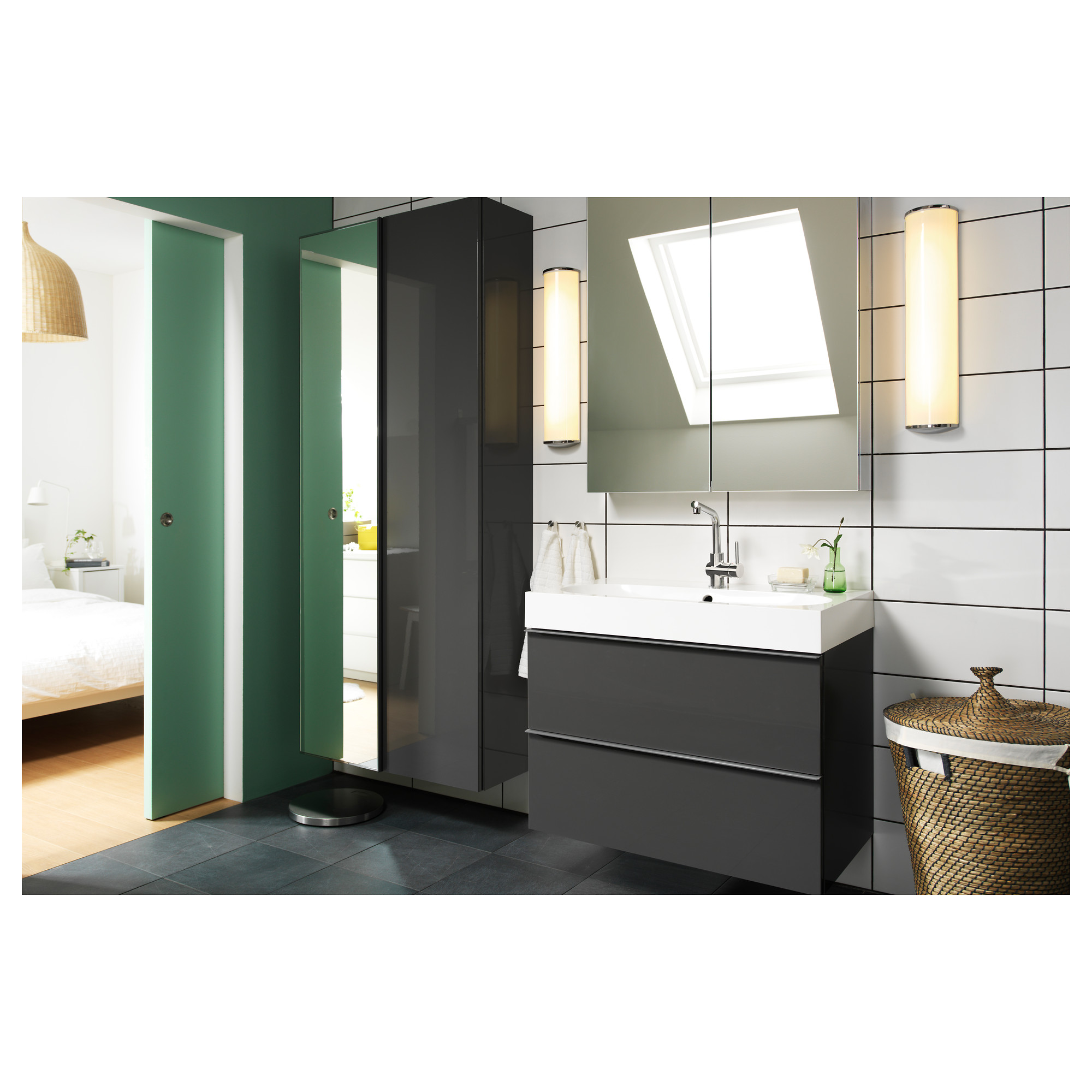 ikea godmorgon mirror cabinet with 2 doors bathroom mirror rh pinterest com