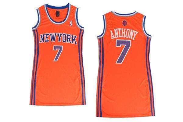 the best attitude 3d12f f2a33 Carmelo Anthony #7 New York Knicks Orange Dress Jersey ...