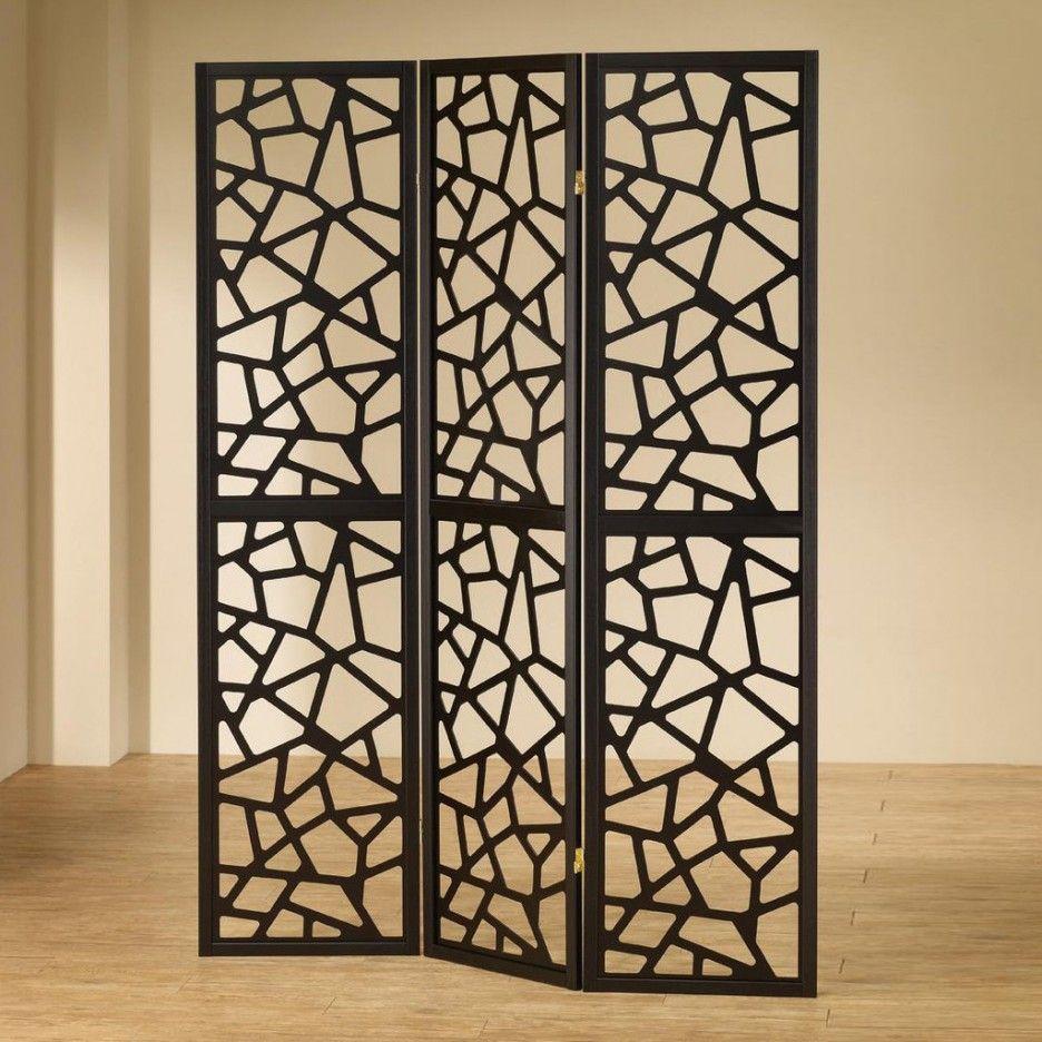 Coaster Furniture  Panel Mosaic Cut Room Divider Black