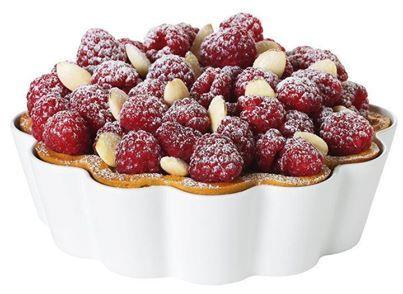 Raspberry Tart in Pillivuyt's Clafouti dish