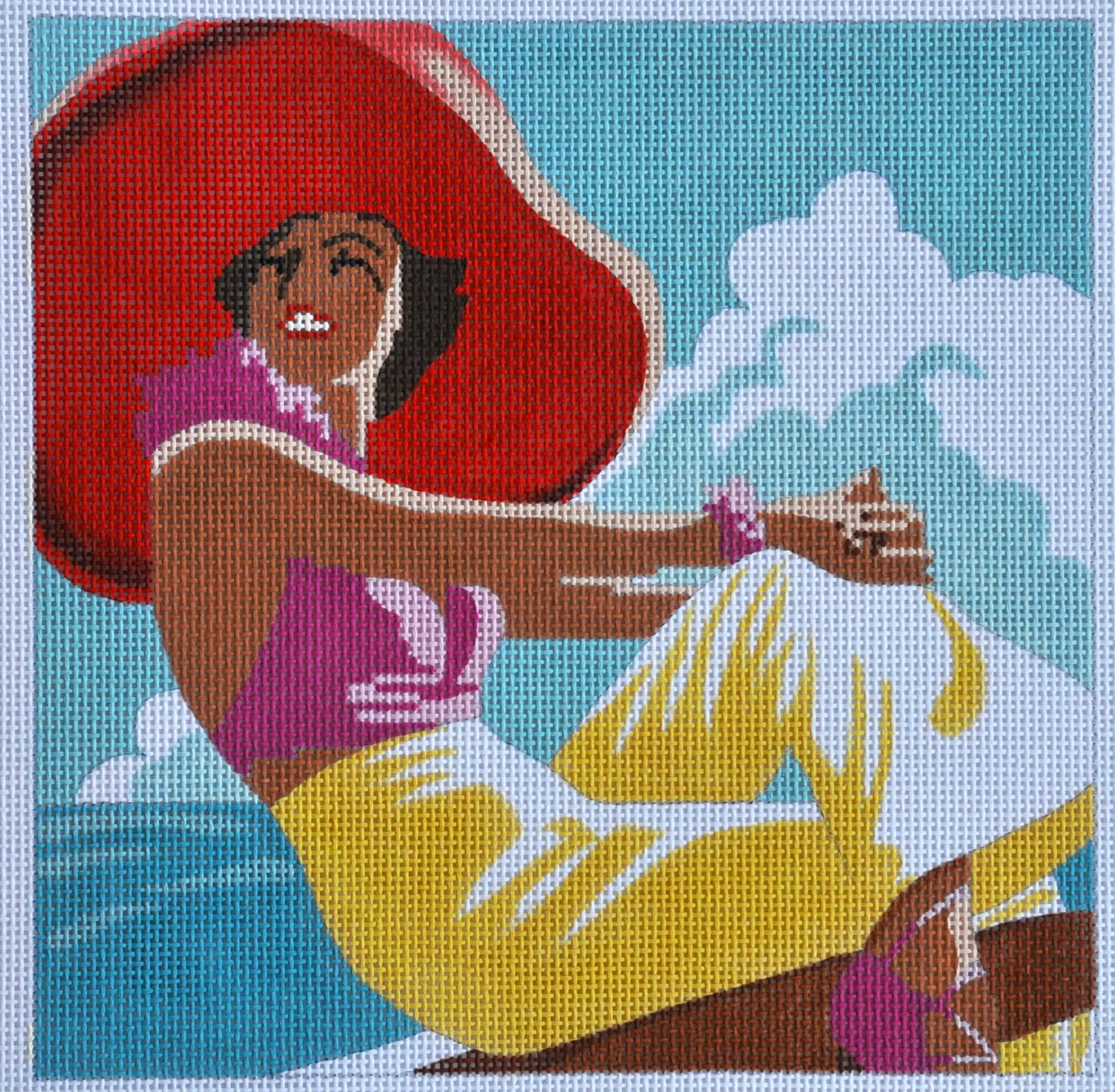 Lady in Red Hat 9x9 13m   Reg. $67.50, Trunk Show $54