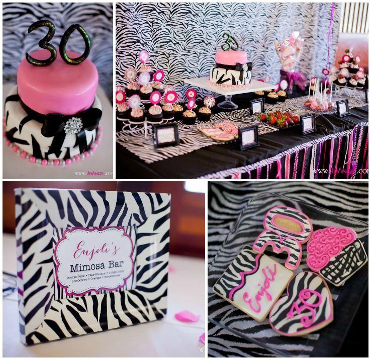 Fabulous zebra 30th birthday party ideas de fiestas fiesta pisos y fucsia - Ideas fiesta inauguracion piso ...