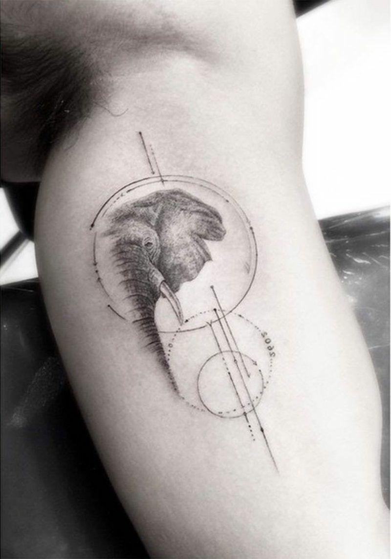 elefanten tattoo symbole und bedeutungen t. Black Bedroom Furniture Sets. Home Design Ideas