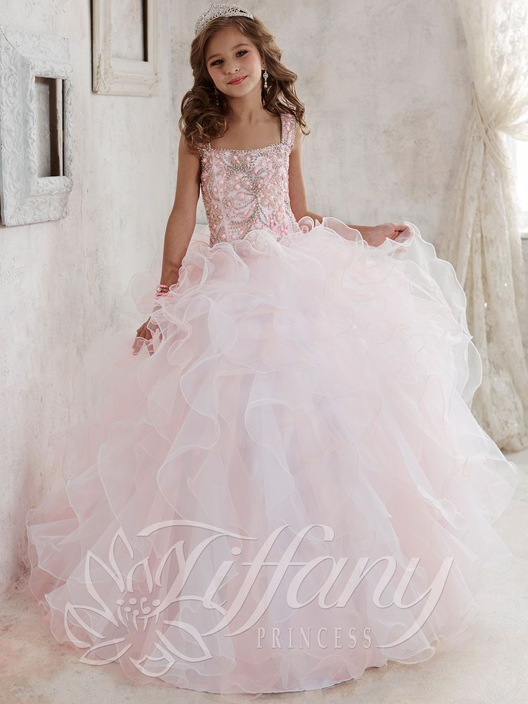 Prom Girl Princess Kids Flower Ball Birthday Pageant Dress Wedding ...