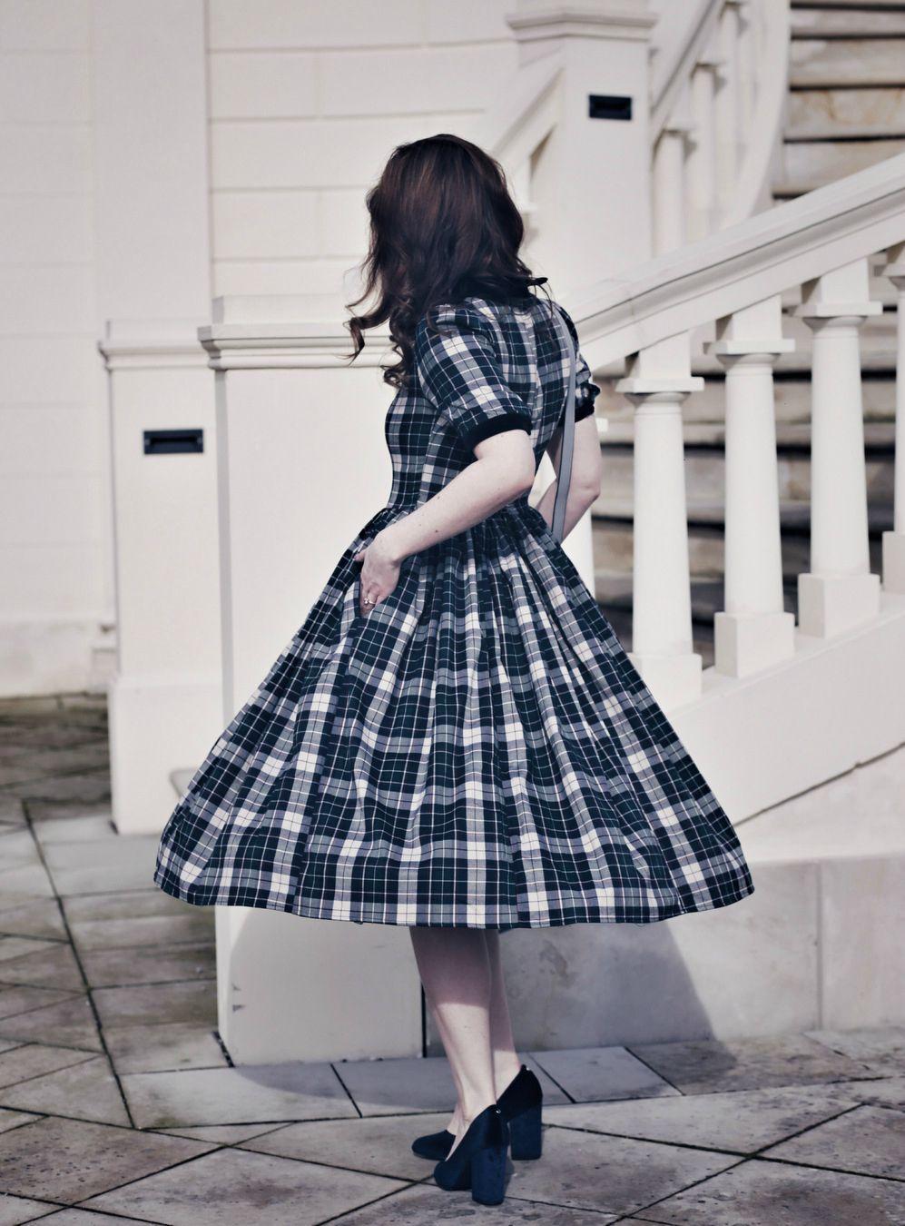 kariertes Petticoat-Kleid, Schulmädchen Petticoat-Kleid, Petticoat ...