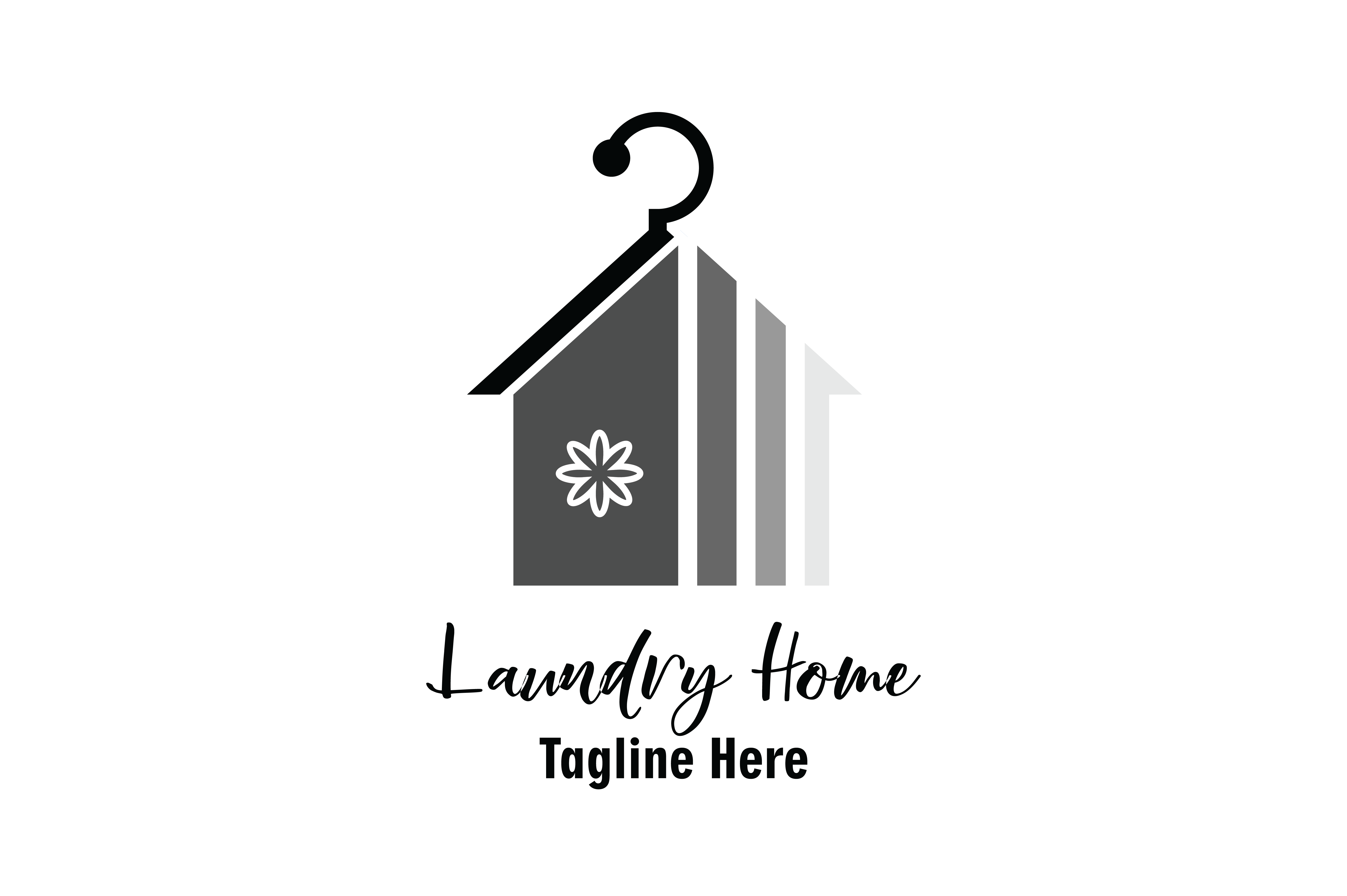 Laundry Home Logo Vector Graphic By Yuhana Purwanti Creative Fabrica