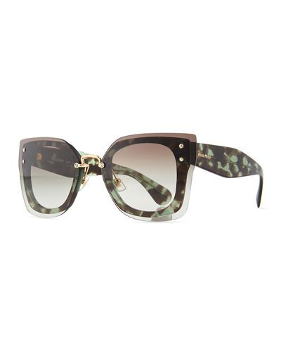 ae687a9be6b Square Butterfly Sunglasses w  Overlay Lenses Oversized Sunglasses
