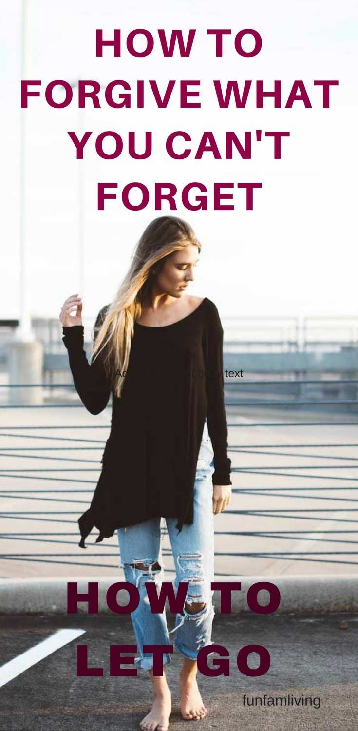 Getting on with your life is gut wrenching when you don't know how to let go and move on. Forgiveness is one of the most difficult things to do. You can forgive and be happy even though you will always have memories. You can learn how here.