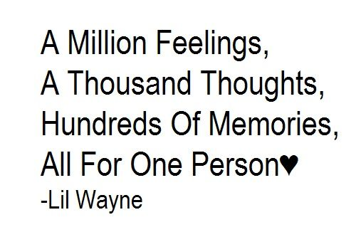 A Million Feelings A Thousand Thoughts Hundreds Of Memories All