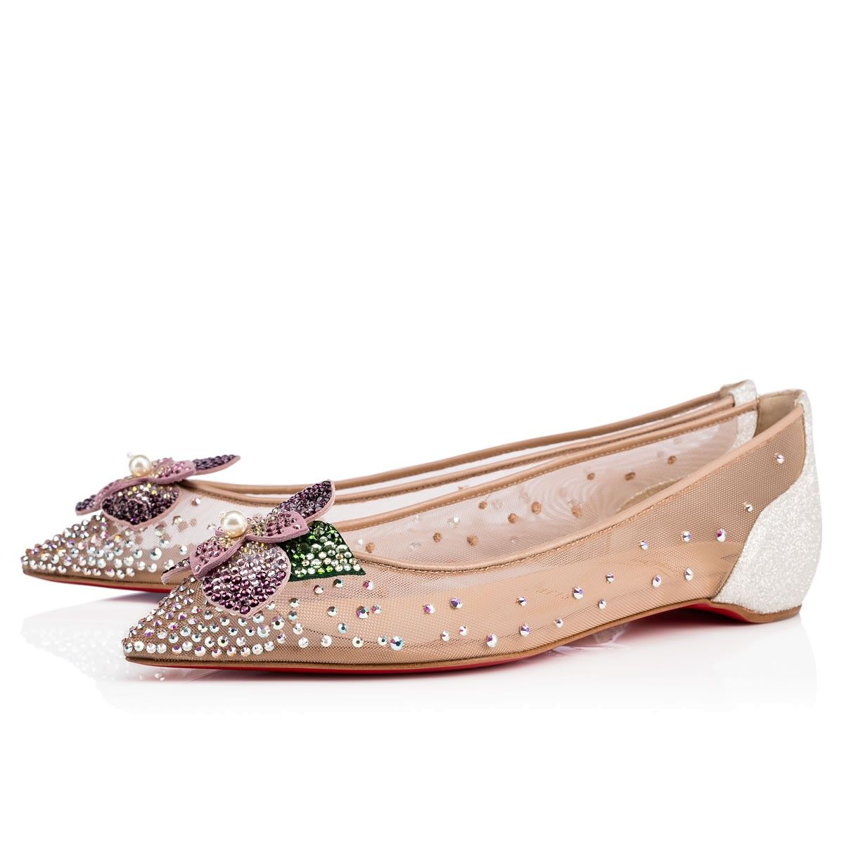 3d0ac0c4668 Feerica Flat Version Ab Strass - Women Shoes - Christian Louboutin ...
