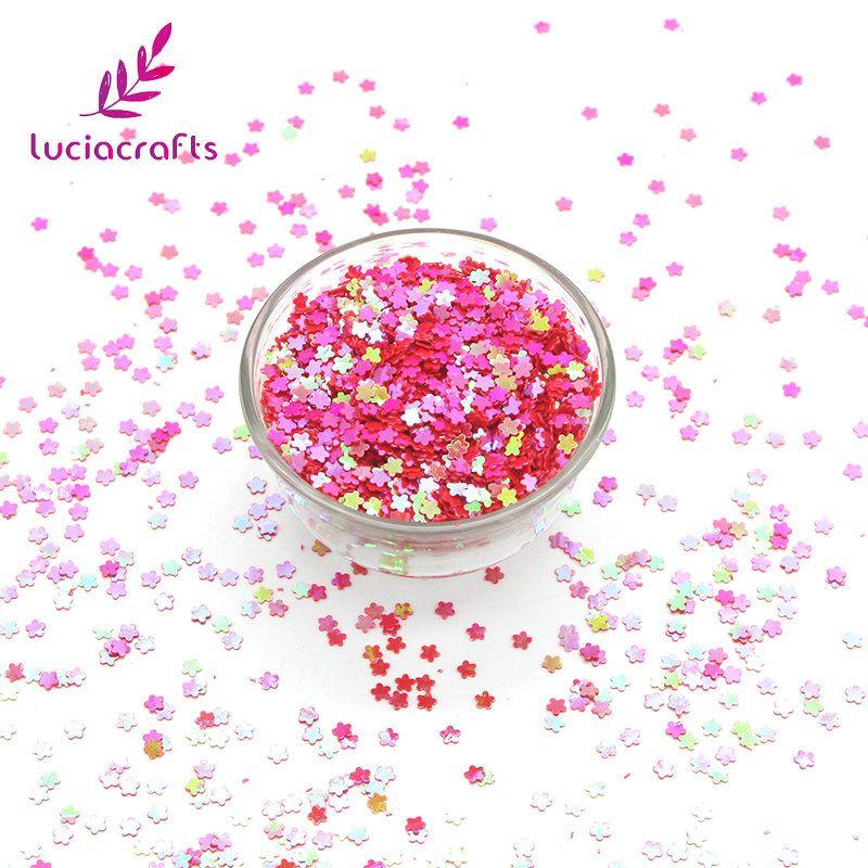 Pas cher Lucie artisanat 10g/20g 3mm Fleur Forme Paillettes ...