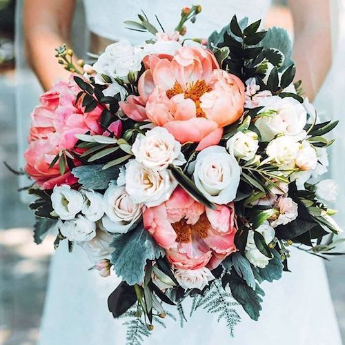 38+ Living Coral Wedding Decor Ideas to Brighten Up your Celebration #whitebridalbouquets