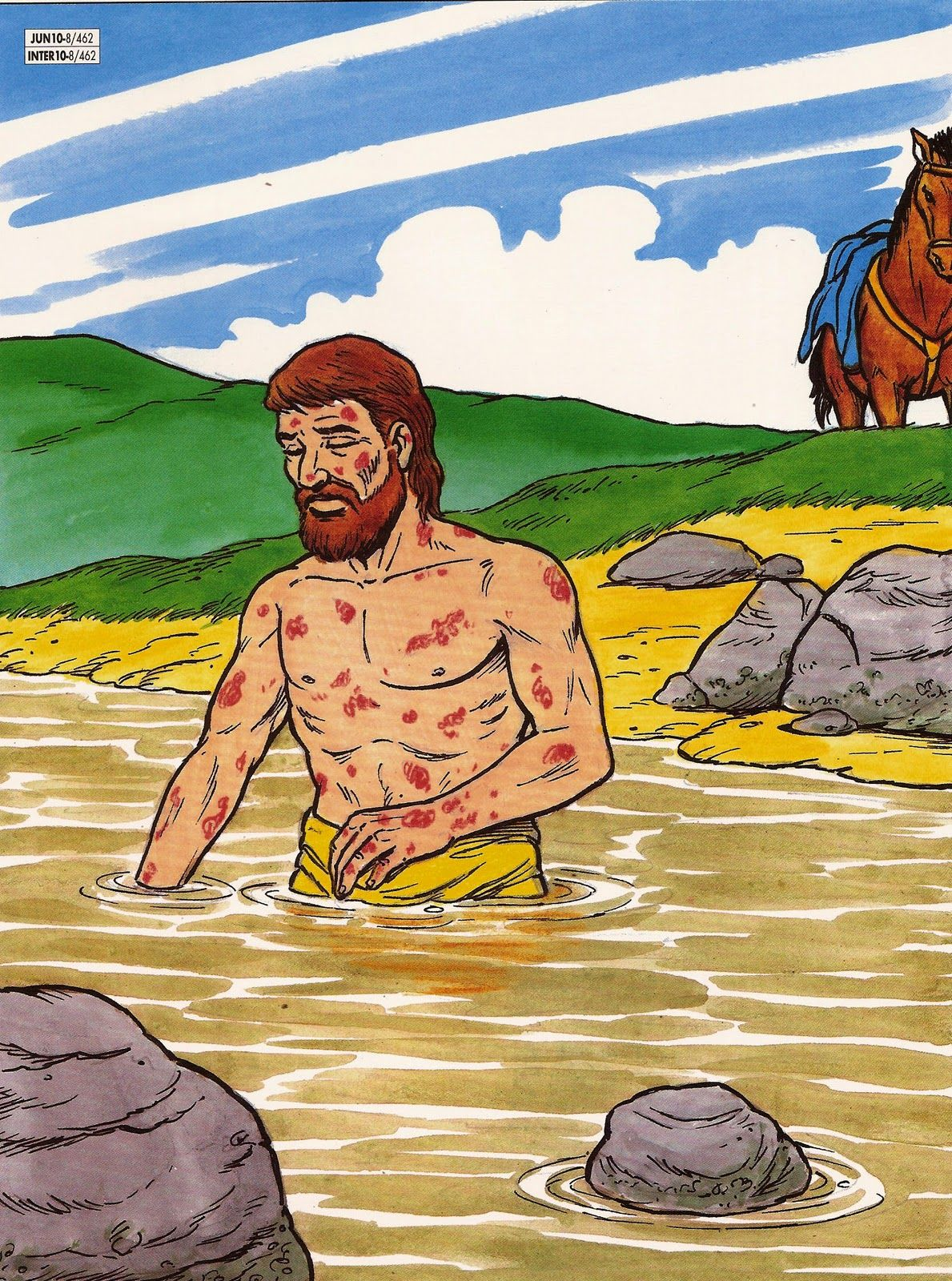 Naaman | dibujo 2 | Pinterest | Dios es, Enseñanza y Dibujo