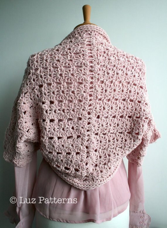 Crochet PATTERN bolero crochet pattern, women, girls shrug crochet ...