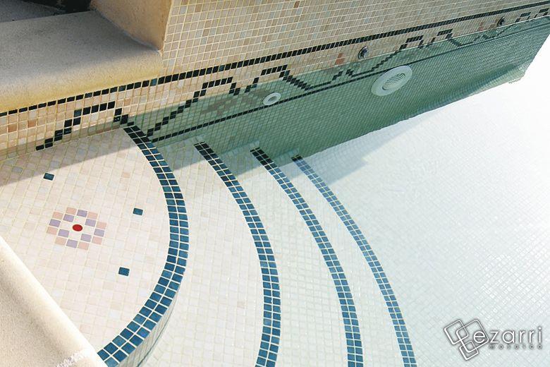 Emaux de verre 2514b carrelage piscine rose carrelage - Colle pour mosaique piscine ...