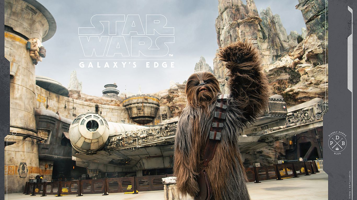 Star Wars Galaxy S Edge Wallpaper Series Landing At Batuu Star Wars Star Wars Galaxies Disney Background