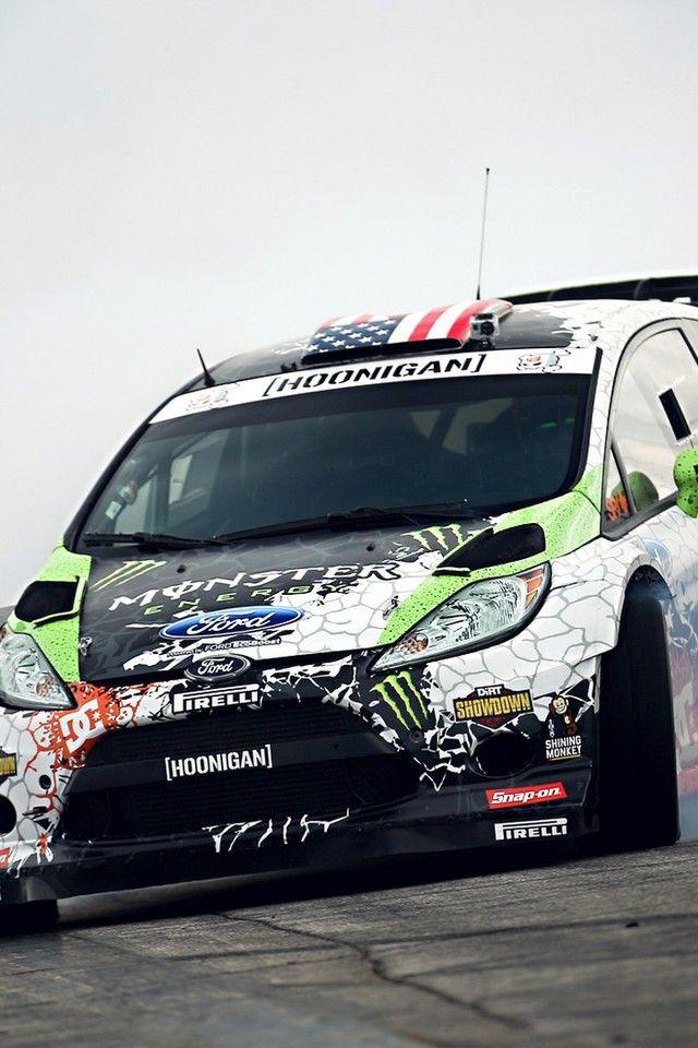 Ken Block Fiesta Monster Energy Drifting Drift Wallpaper
