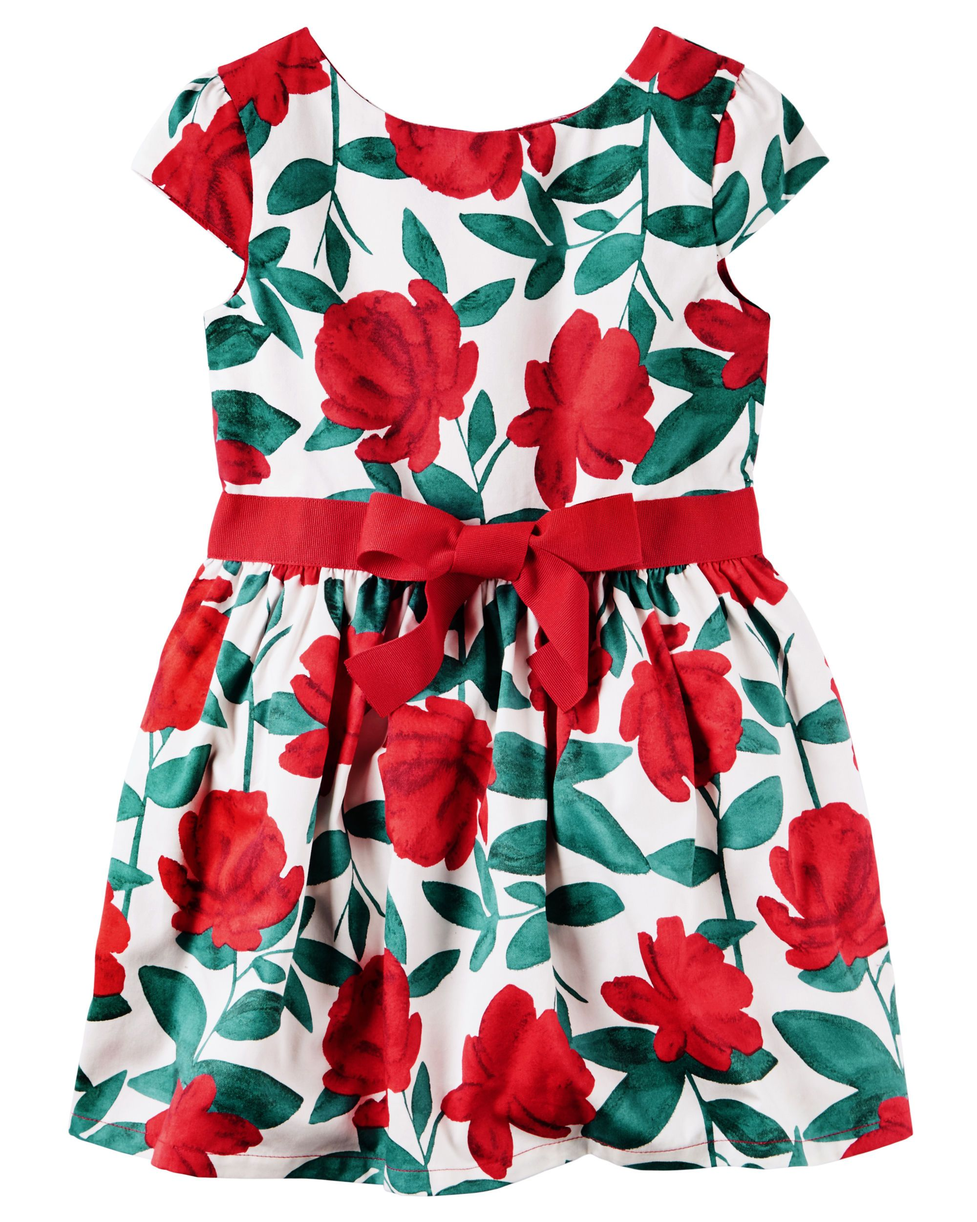 a7294065ac81d Toddler Girl Floral Sateen Dress from Carters.com. Shop clothing &  accessories from a trusted name in kids, toddlers, and baby clothes.