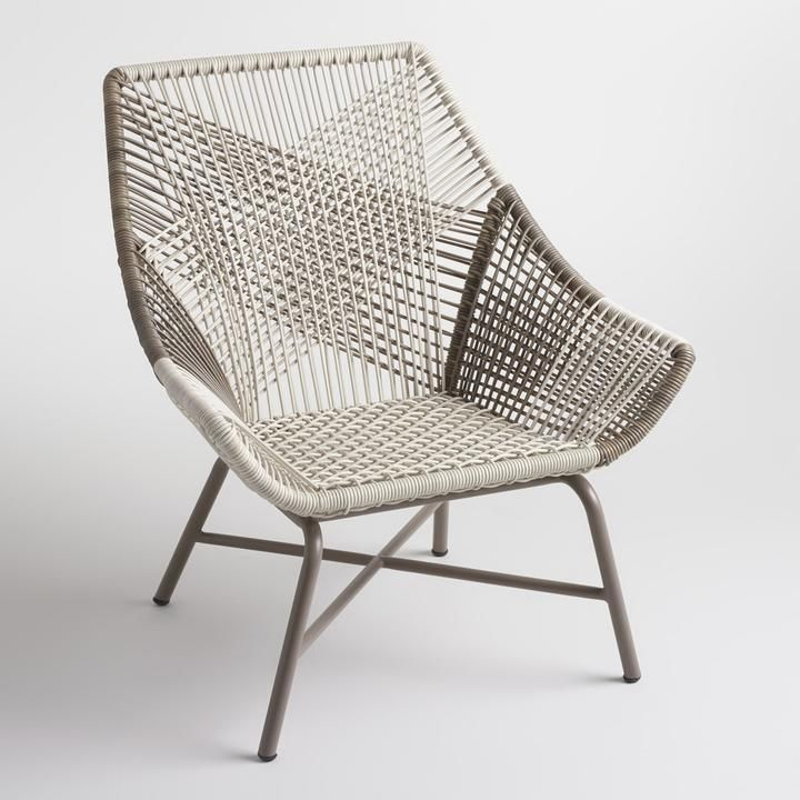 Gray Andalusia Woven Chair | home goods | Pinterest