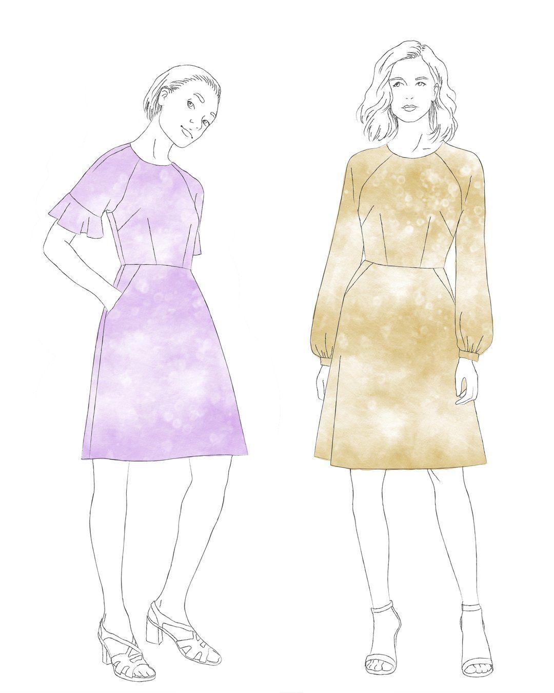 Valerie Raglan dress (PDF pattern) in 2020 Pattern
