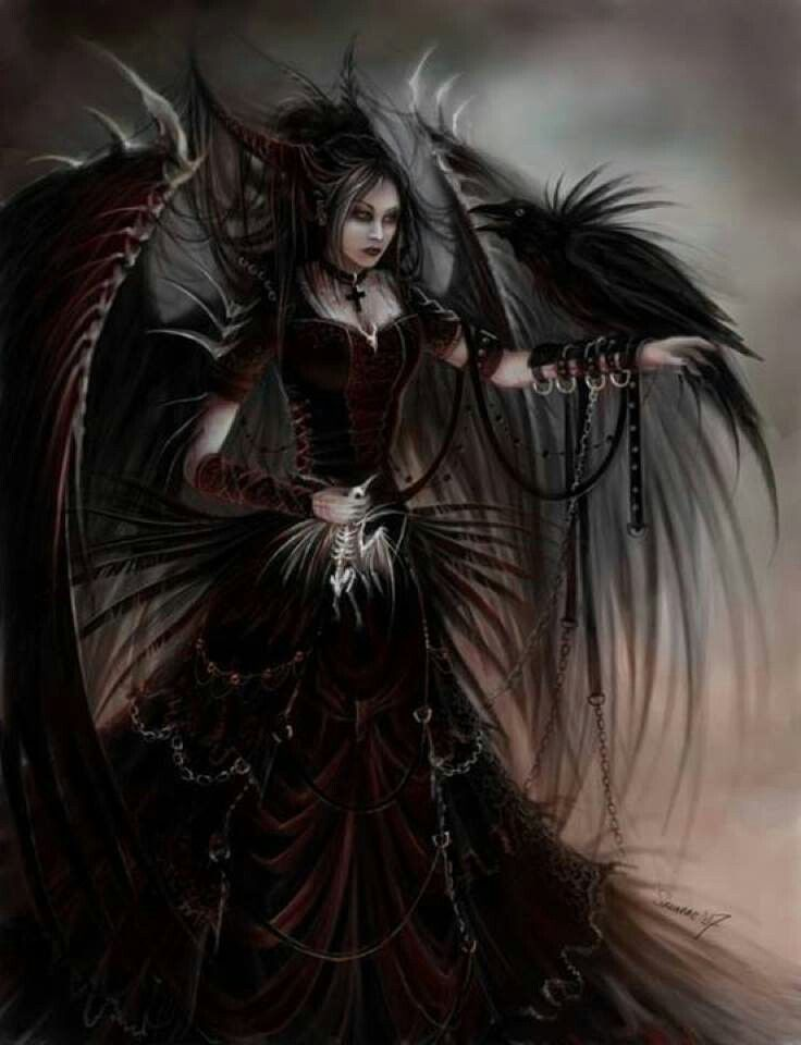 Female Dark Angels, or more commonly known as Demons, look like this in their human form.