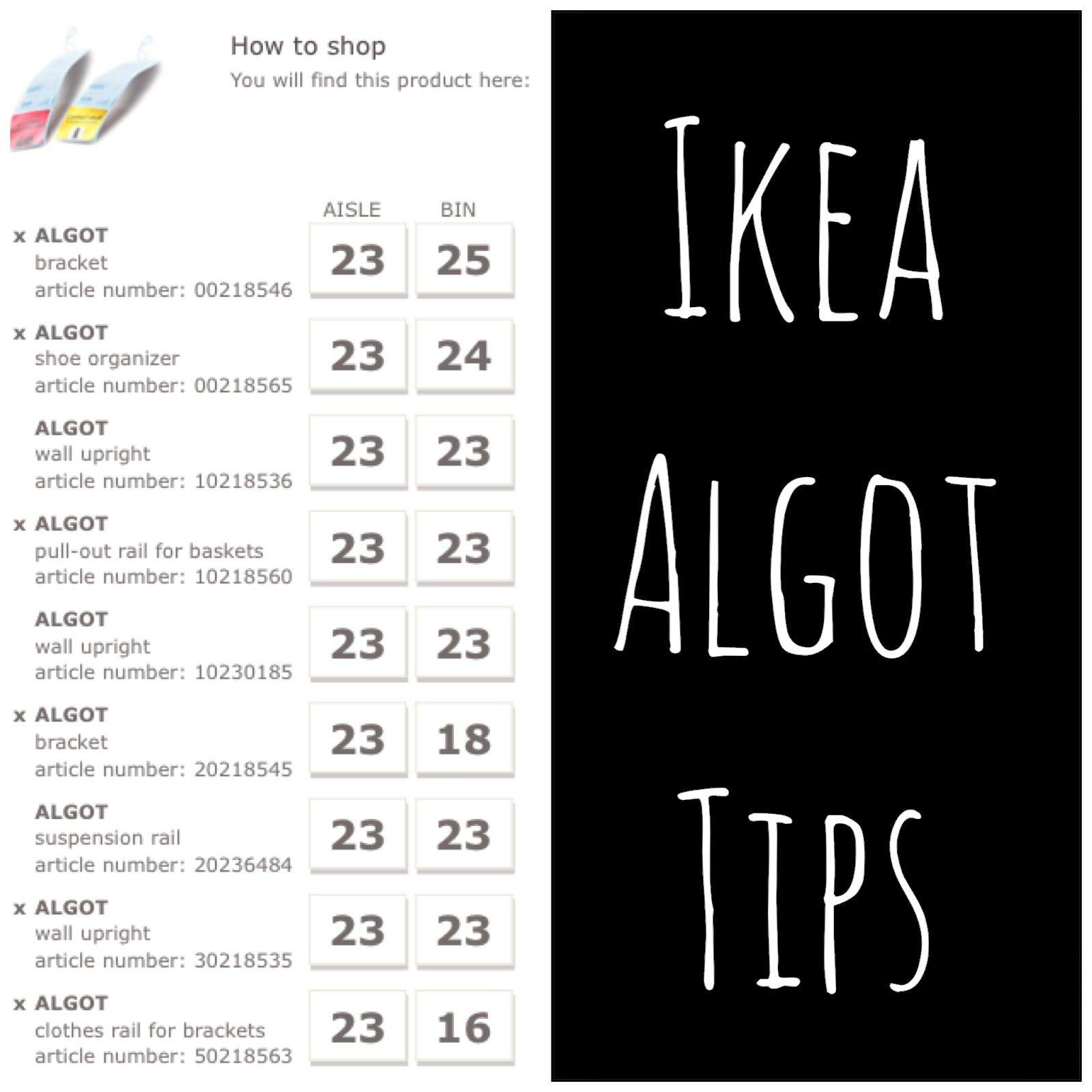 Algot Installation Tips Organization Ikea Algot Algot