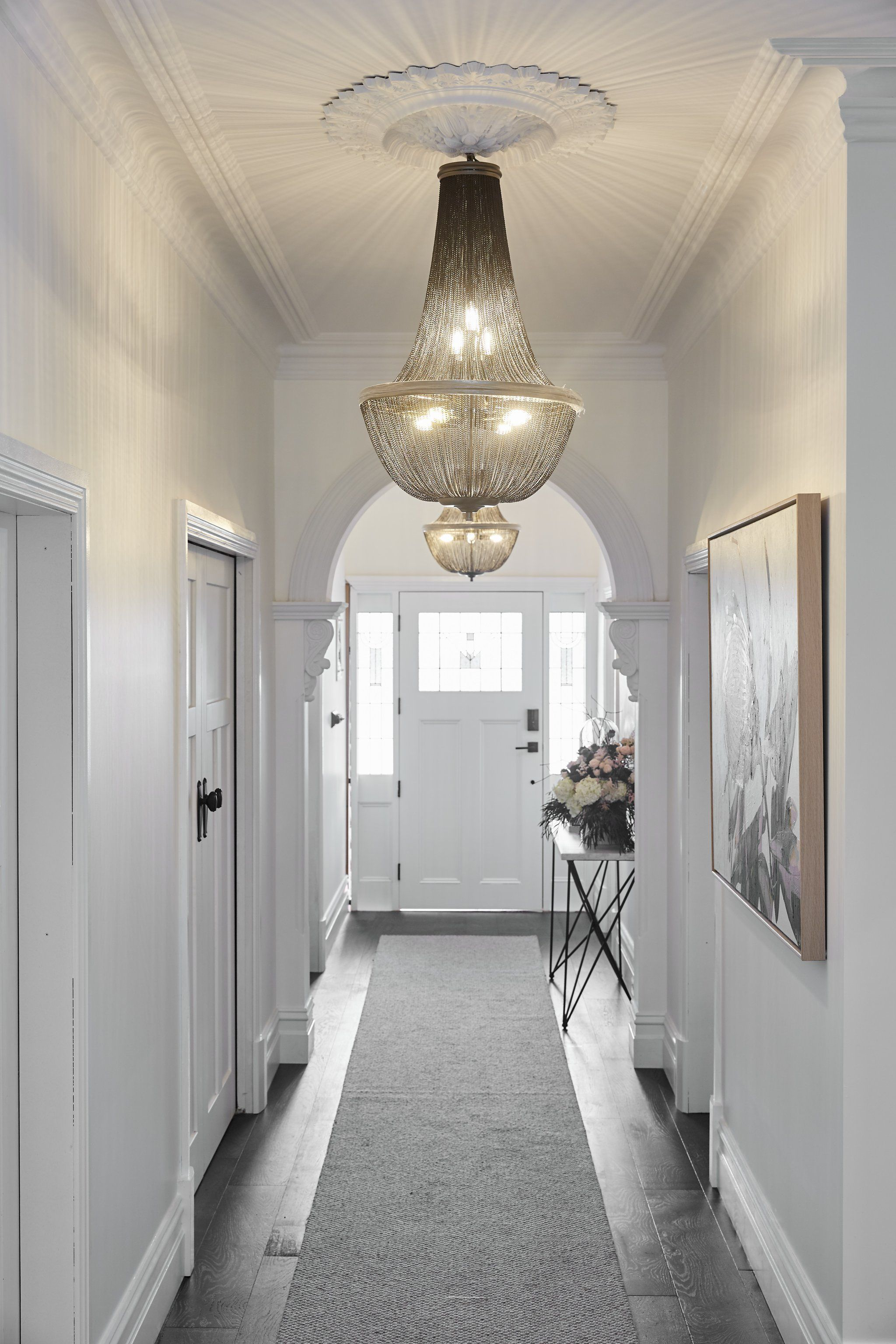 8+ Dazzling Hallway Lighting Ideas that'll Impress You ... on small entry lighting ideas, narrow landscape ideas, narrow hallway mirrors, narrow hallway wall decoration, powder room lighting ideas, narrow kitchen ideas, narrow living room seating ideas,