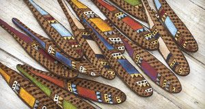 Tree Wings Studio Leather Feathers - I am in love! Come check them out at LimaBeads.com