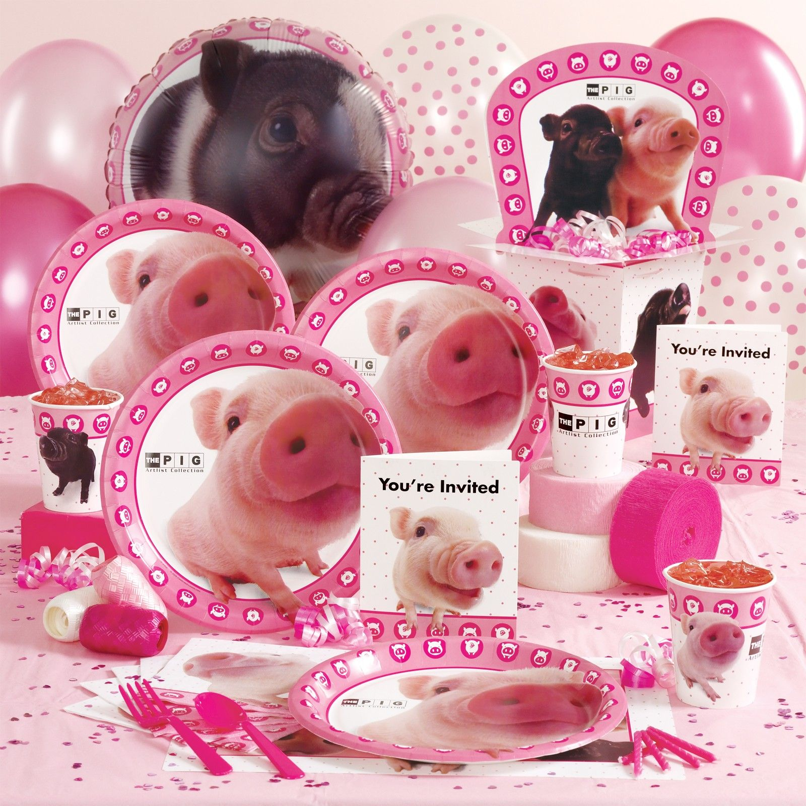 pig party supplies birthday ideas pinterest pig party birthdays and pig birthday. Black Bedroom Furniture Sets. Home Design Ideas