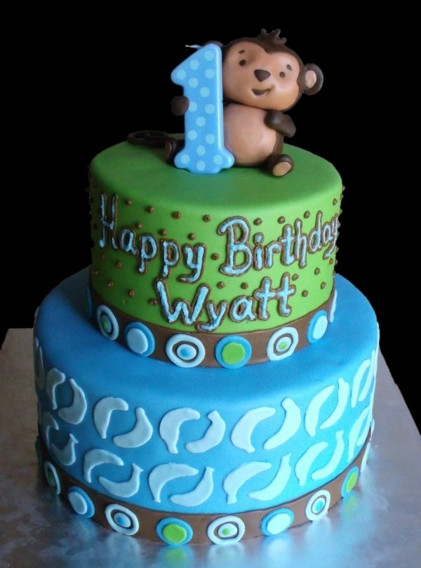 Monkey Cake Birthdaaays For My Babies Pinterest Monkey Cake