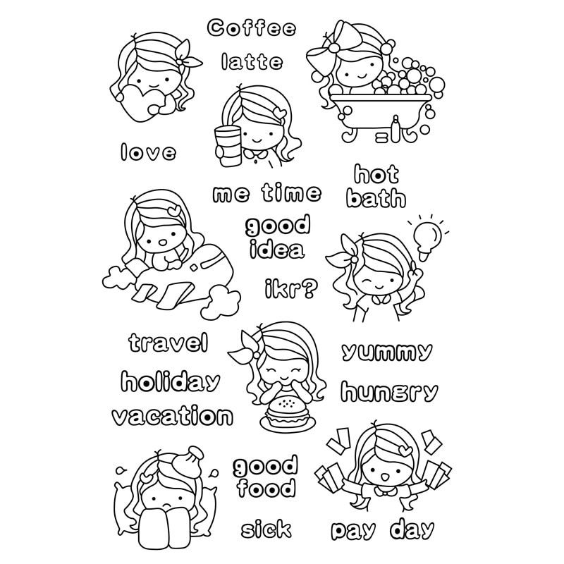 small clear stamp Vacation