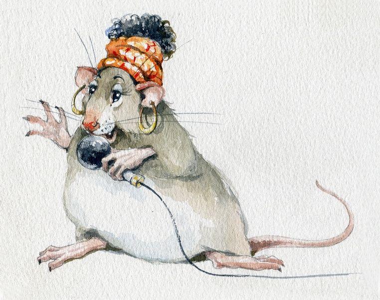 Картинка, открытка с крысой