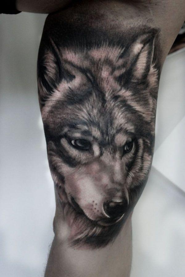 wolf tattoo 3d arm. Black Bedroom Furniture Sets. Home Design Ideas