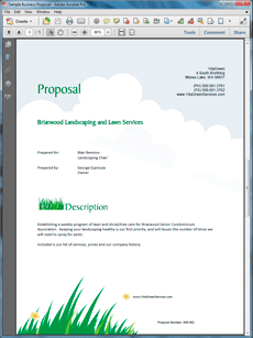 lawn care and landscaping services proposal - create your own, Invoice templates