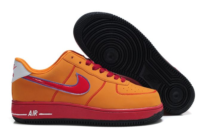 Orange Black Air Force 1 Bespoke By Pete Premium Laces