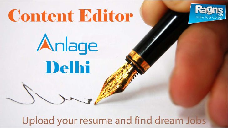 Jobs Jobsearch India Content Editor Anlage Infotech India