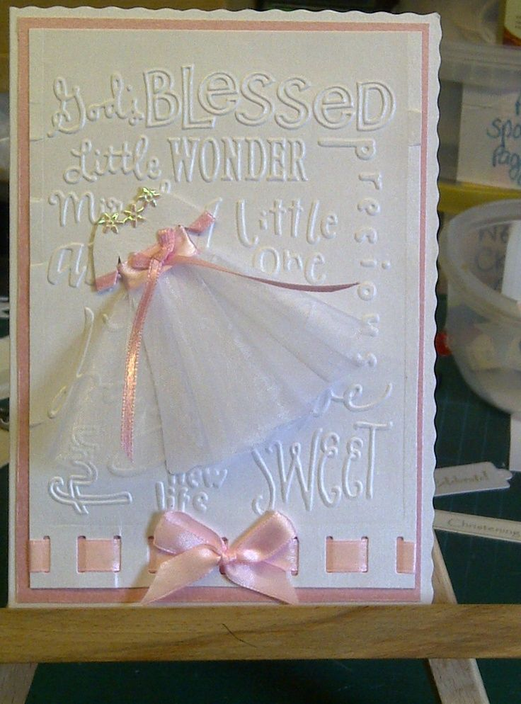 Attractive Christening Card Ideas To Make Part - 2: Christening Card For A Friend