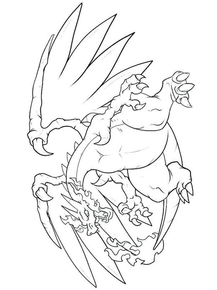 Pokemon Mega Charizard Coloring Pages Charizard Is One Of The Monsters In The Pokemon In 2020 Puppy Coloring Pages Cartoon Coloring Pages Coloring Pages Inspirational