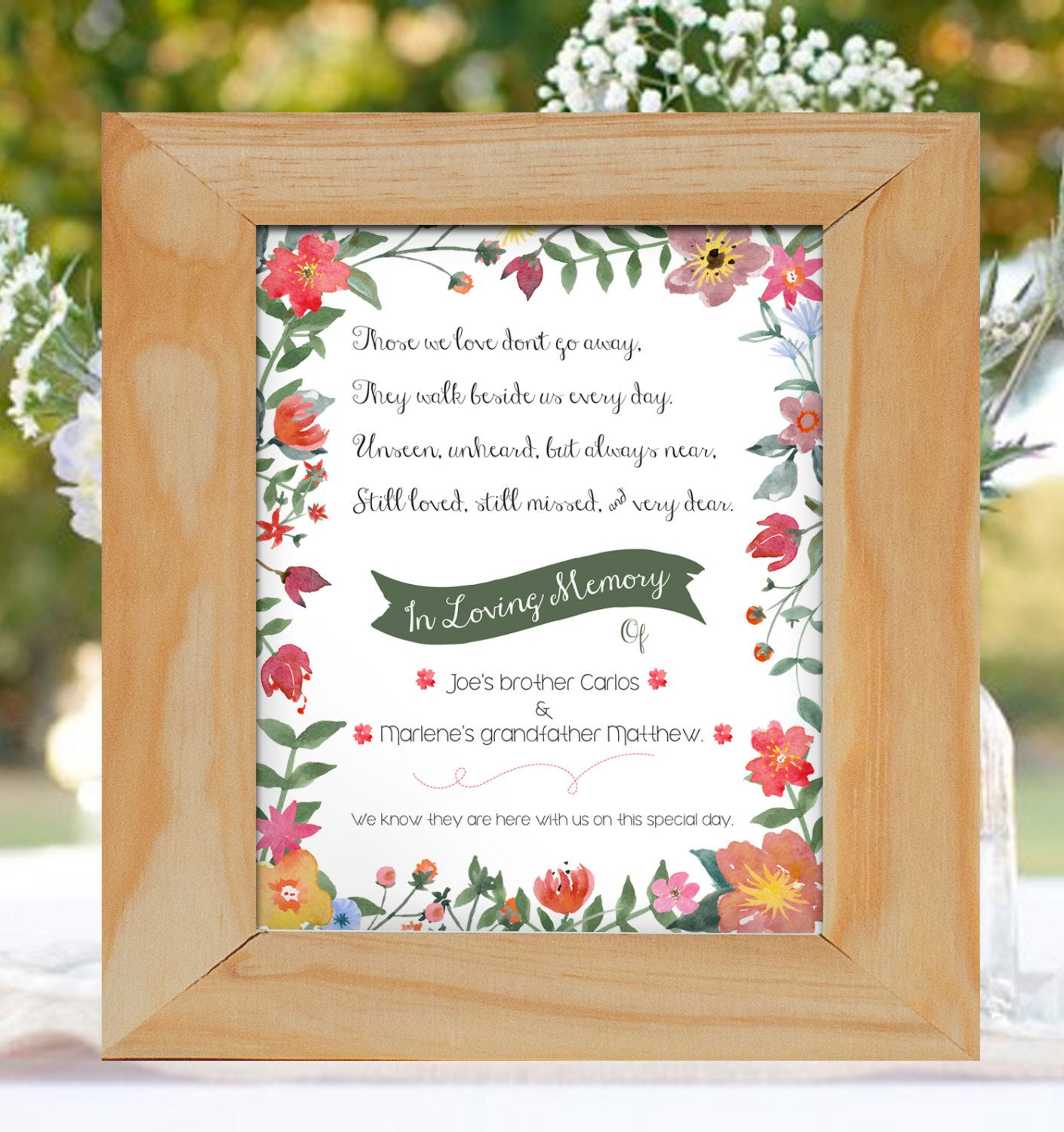 Let Love Grow Sign for Wedding- Customizable Digital File- 8x10 ...