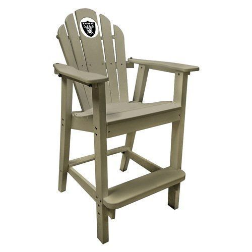 Oakland Raiders Captains Pub Chair Sand