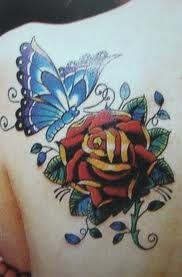Photo of tatouages de fleurs et de papillons – Recherche Google