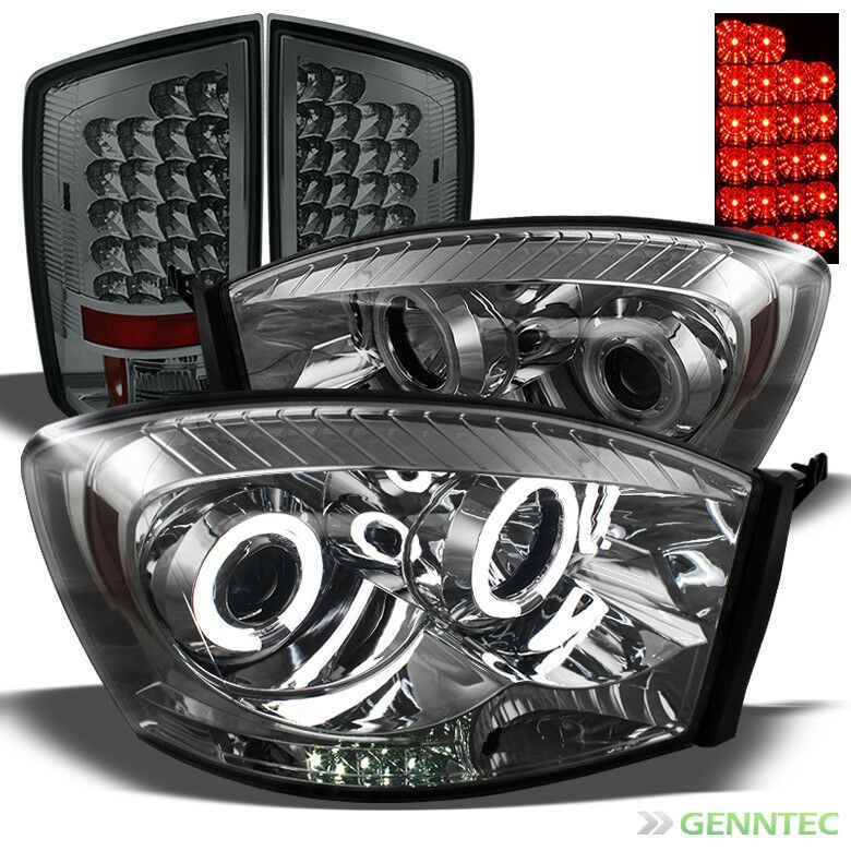 Details About For 07 08 Ram 1500 07 09 2 3500 Smoke Ccfl Pro Headlights Led Tail Lights Led Tail Lights Ram 1500 Tail Light