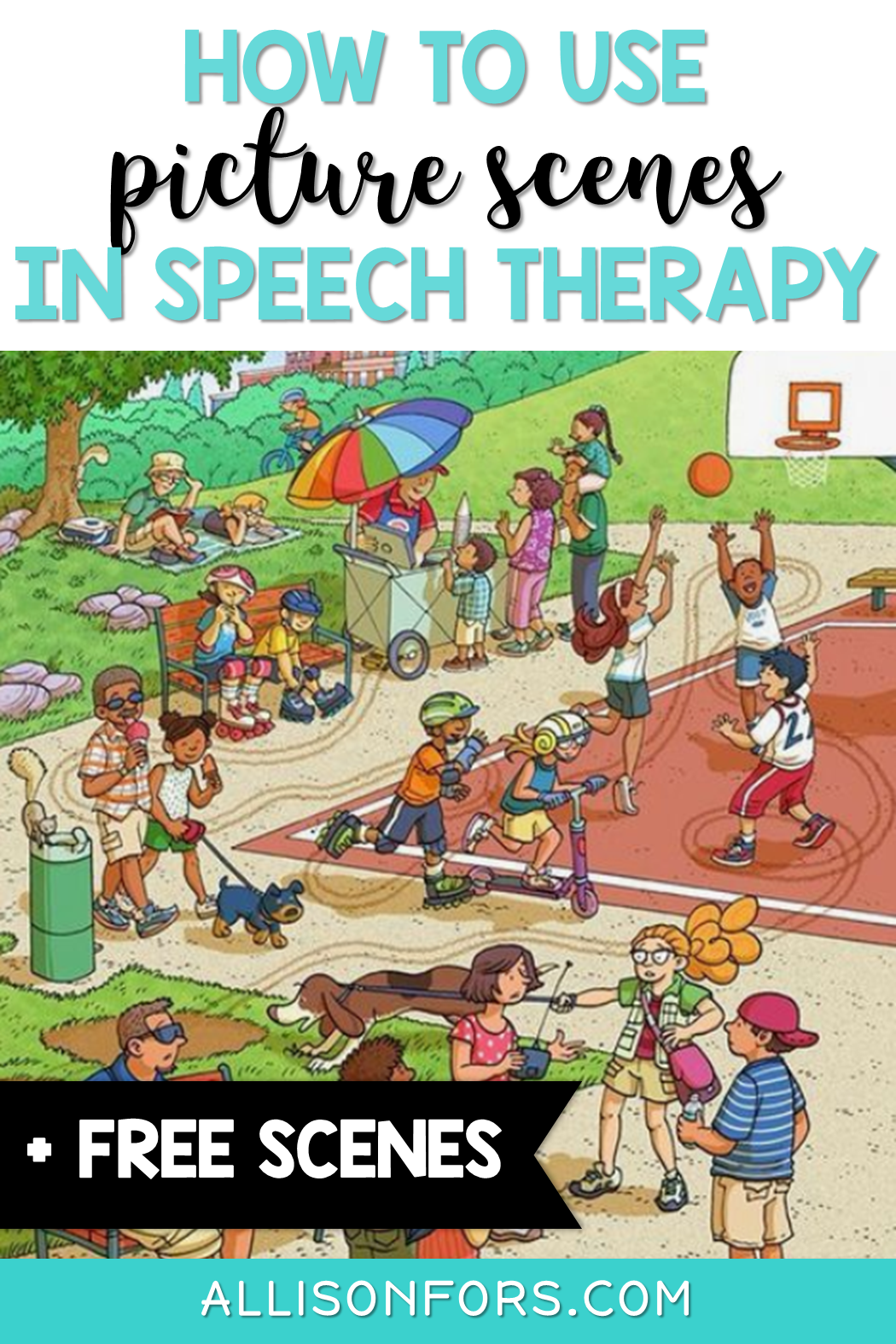 How To Use Picture Scenes In Speech Therapy Free Scenes