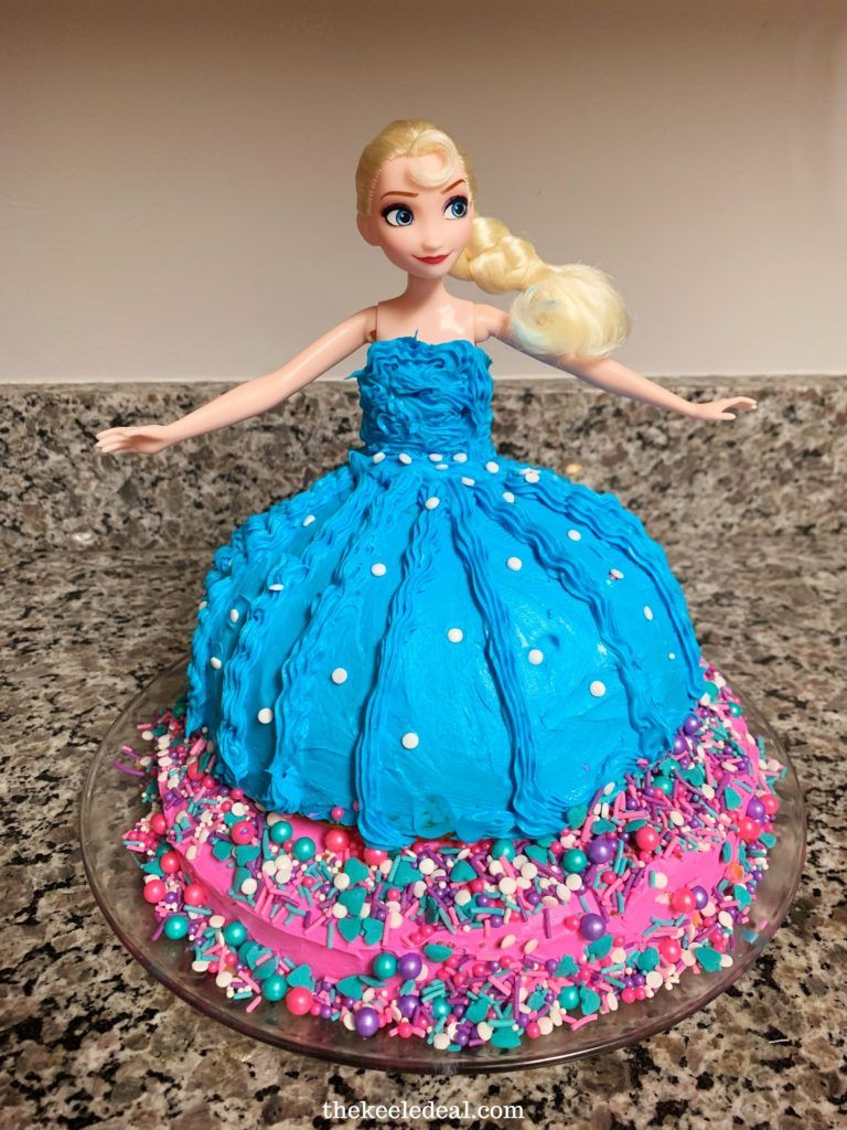 Easy princess birthday cake hack to make any disney